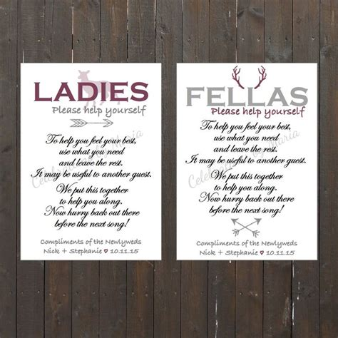 wedding bathroom signs the hunt is over themed wedding bathroom signs ladies