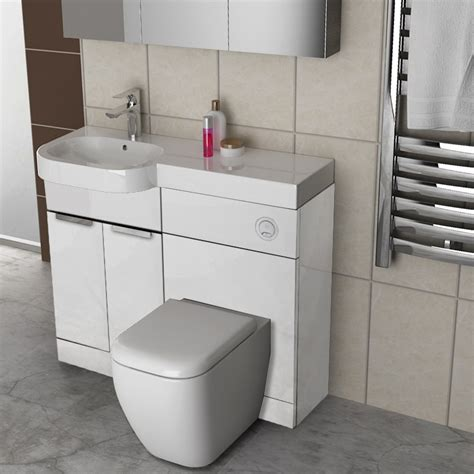 gravity combination vanity unit white and basin buy