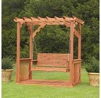 Backyard Discovery Pergola Swing New Cedar Wood Garden Entry Arbor Pergola Swing Stand