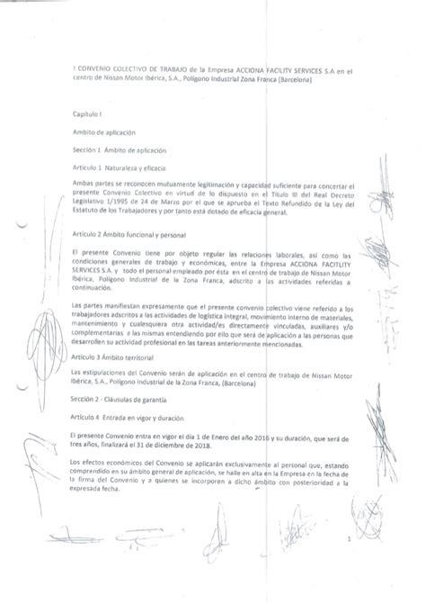 convenio colectivo administrativo 2016 convenio colectivo acciona fs 2016 2018 usoc acciona