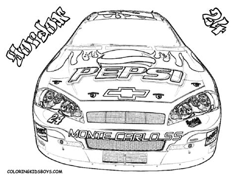 nascar coloring pages jeff gordon nascar coloring pages