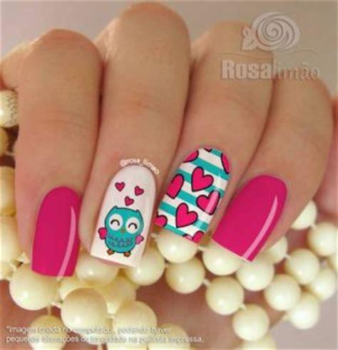 imagenes de uñas pintadas de buhos u 241 as decoradas en forma de b 250 ho
