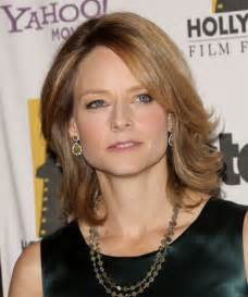 Jodie foster medium straight formal hairstyle thehairstyler com