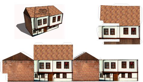 Paper Craft Houses - papercraft house eskisehir odunpazari maketi by