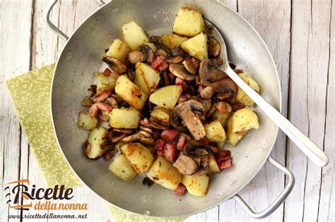 come cucinare i funghi chignon in padella patate e funghi in padella ricette della nonna