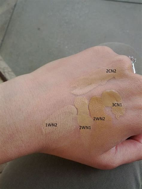 Shoo Olive Korea estee lauder invisible fluid makeup shade guide mugeek
