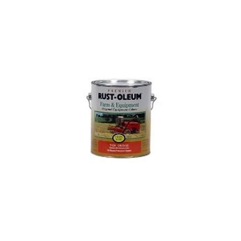 buy the rust oleum 7458402 farm equipment paint orange 1 gallon hardware world