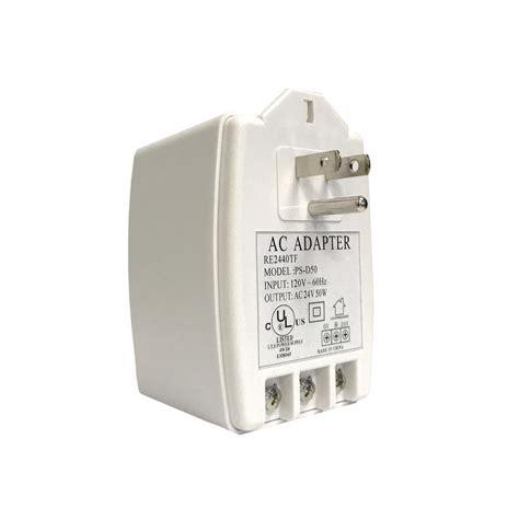 Ac Adapter 24v 3 7ere revo 24 volt ac adapter for elite cameras re2440tf the home depot