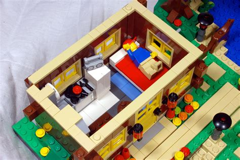lego house interior mod steep hillside house with interior 5771 lego town eurobricks forums