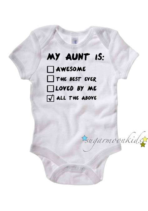 Funny Aunt Baby Clothes » Home Design 2017