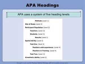 apa headings