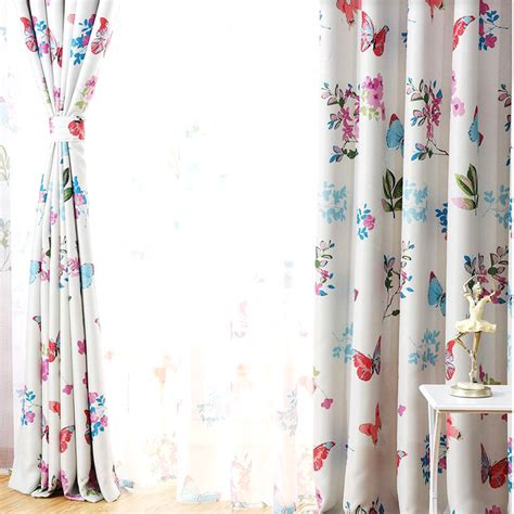 curtains with butterflies on them colorful butterfly patterns customize deramy curtains