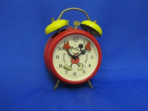 disney mickey mouse alarm clock now and then antiques