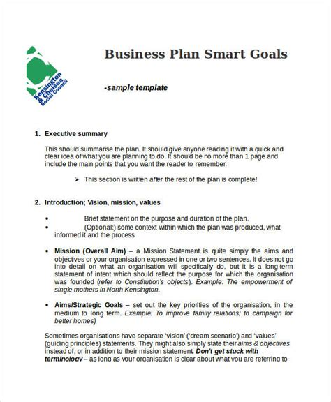 company goals and objectives template sle business goals template vilanovaformulateam