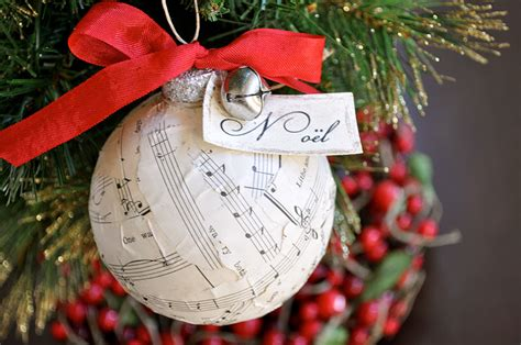 vintage sheet music christmas ornament tutorial little