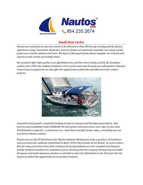 small boat furler small boat furler by nautos usa issuu