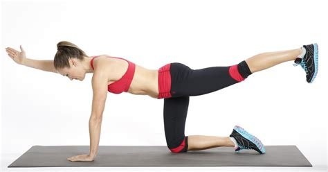 how to bird dogs how to do bird exercise for your back popsugar fitness