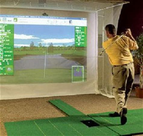 golf swing simulator for home use how to build a home indoor golf simulator set up for under
