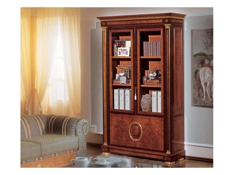 bookcase made of burl ash luxury classic style idfdesign