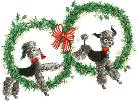 super cute retro christmas dogs image  graphics fairy