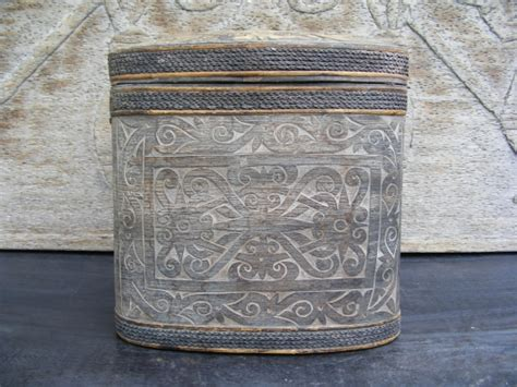 Studio Antique Tempat Obat tempat obat medicine jewelry box tribal artifact for
