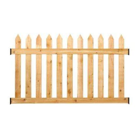home depot fence sections wood fence panels wood fencing the home depot
