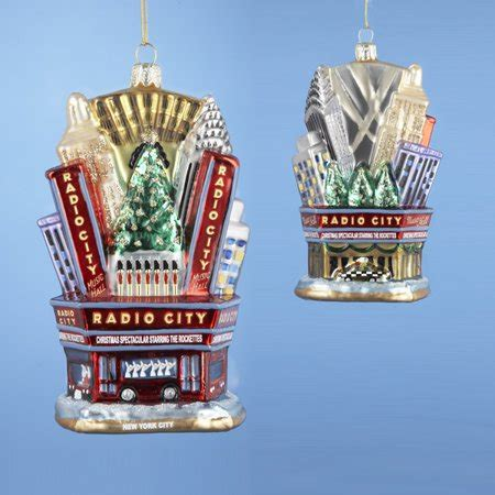 radio city christmas tree pack of 6 nyc radio city rockettes glass ornaments 5 quot walmart