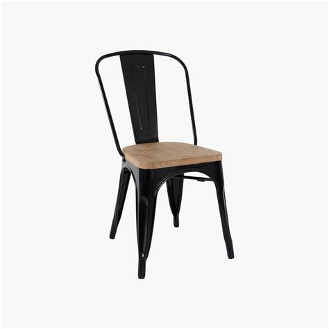 Tolix Dining Chairs Replica Tolix High Back Dining Chair With Timber Seat U3