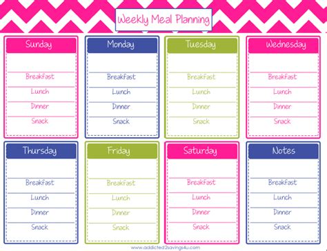 blank printable monthly meal planner blank weekly meal plan car interior design