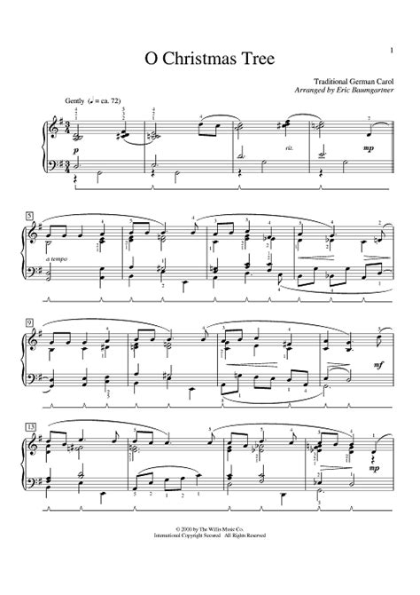 o christmas tree sheet music music for piano and more