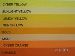 shades of yellow names 28 shades of yellow names shades of yellow chart