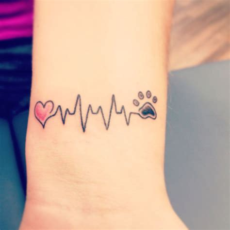 heartbeat paw print tattoo the 25 best ideas about dog tattoos on pinterest pet