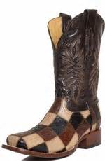 Corral Patchwork Boots - corral mens square toe ostrich patchwork boots black