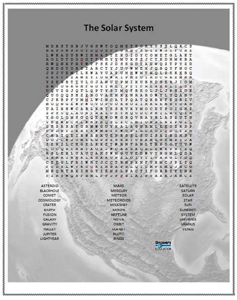 printable word search solar system solar system word find printable page 3 pics about space