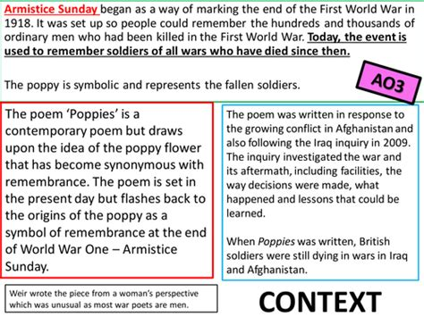 biography in context login edexcel conflict poetry gcse 9 1 poppies war