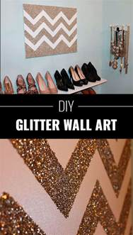 diy projects for wall decor 34 sparkly glittery diy crafts you ll diy projects