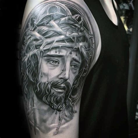 jesus 3d tattoo 60 3d jesus designs for religious ink ideas