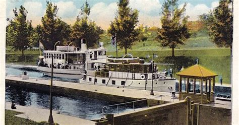 boat lifts for sale peterborough circa 1915 boats in the lift lock vintage peterborough