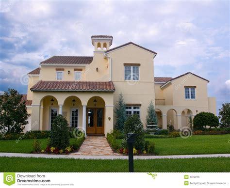 Spanish Villa House Plans upscale spanish style house royalty free stock image