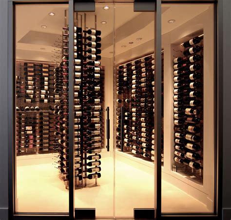 glass door wine storage wine cellar design applied in your room traba homes