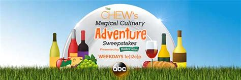 The Chew Sweepstakes 2017 - abc the chew s magical culinary adventure sweepstakes 2016 sweepstakesdaily com