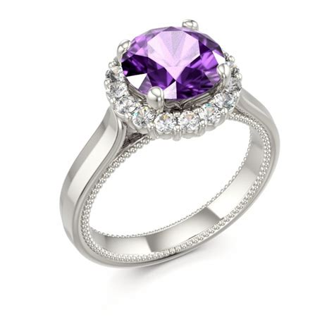 1000 ideas about amethyst engagement rings on