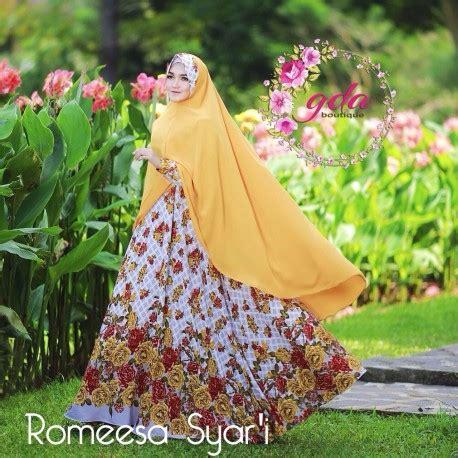 Rosyi By Balimo 1 Romeesa Yellow Baju Muslim Gamis Modern