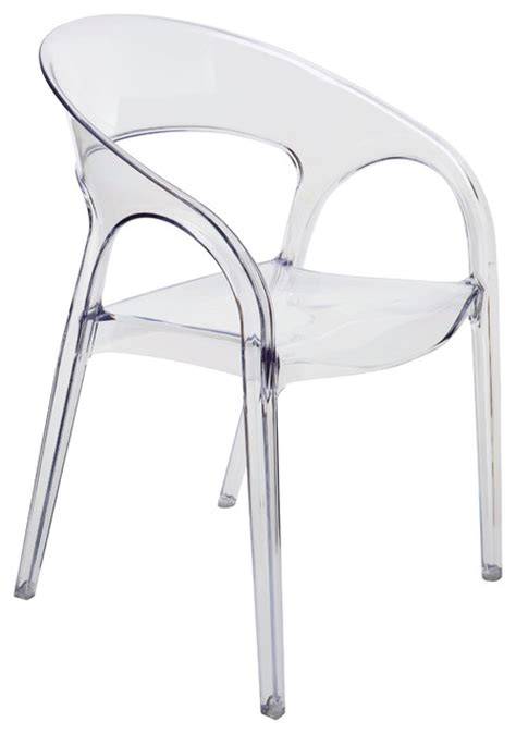 Clear Dining Chair Kessler Back Acrylic Modern Clear Dining Chair Transitional Dining Chairs By Kathy
