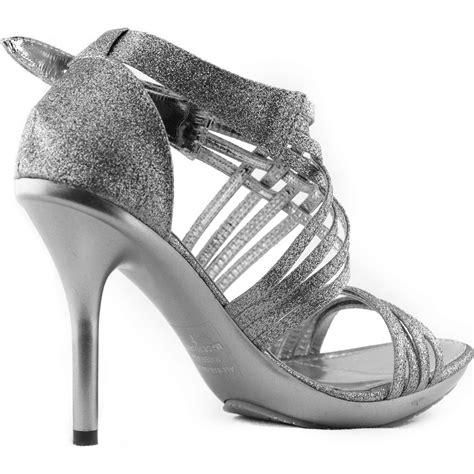 open toe sandals strappy gladiator style sparkle glitter