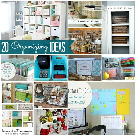 organize organise great ideas 20 ways to organize your home