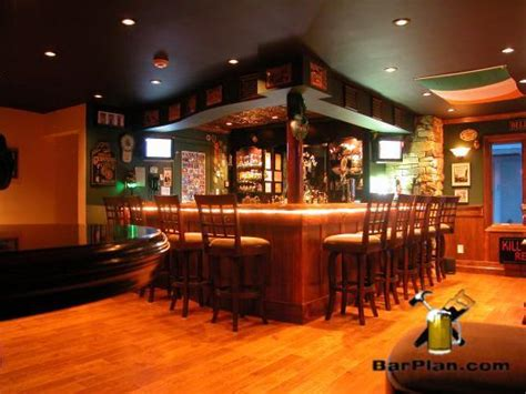 irish pub   garage easy home bar plans