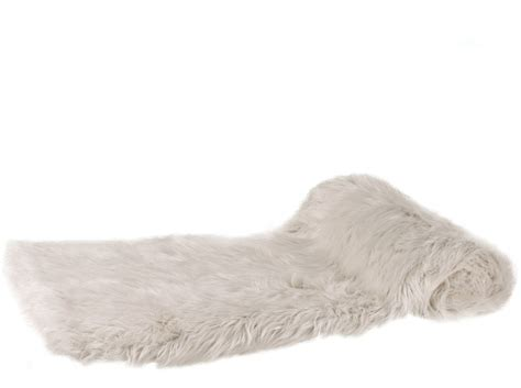 Thick Cream Faux Fur Throw   Throws
