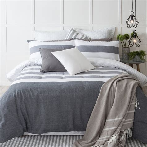 Gray Quilt Bedding by Provincial Grey Quilt Cover Set Pillow Talk