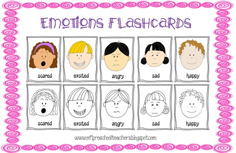printable feelings flashcards for toddlers esl efl preschool teachers feelings emotions theme